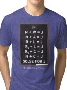 Westerosi Math 101 Tri-blend T-Shirt