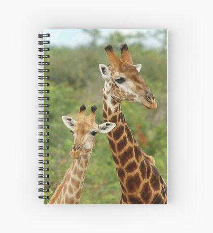 THE HAPPY COUPLE - GIRAFFE – Giraffa Camelopardalis Spiral Notebook