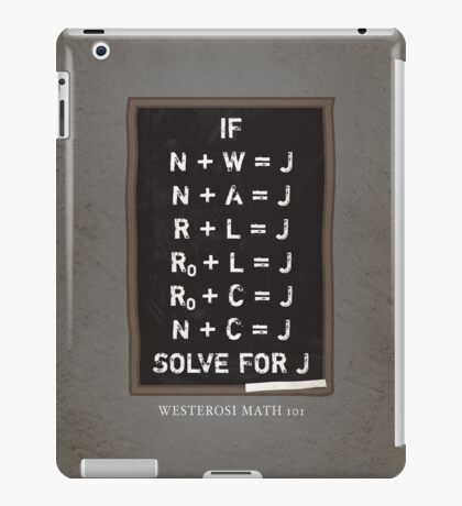 Westerosi Math 101 iPad Case/Skin