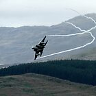 USAF F15C flying through the Mach Loop in Wales by PhilEAF92