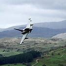 RAF Typhoon flying through the Mach Loop in Wales by PhilEAF92