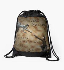 Hello, Doctor. Drawstring Bag