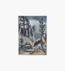 North Woods Mood(Based on a Watercolor by Charles E. Burchfield Art Board