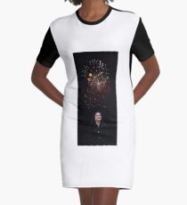 Firework  Graphic T-Shirt Dress
