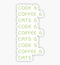 Code, Coffee, Cats Sticker