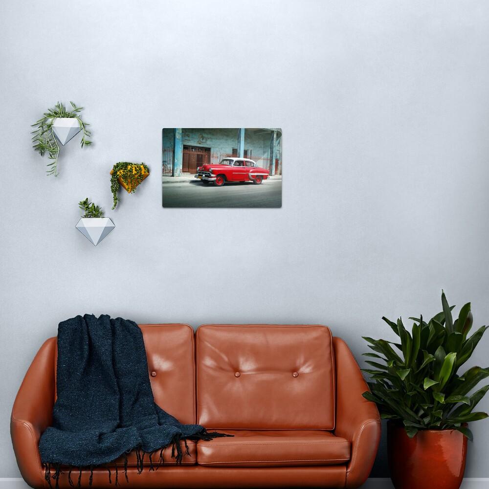 1953 Chevrolet Bel-Air Sedan 4D Red, Cuba Metal Print