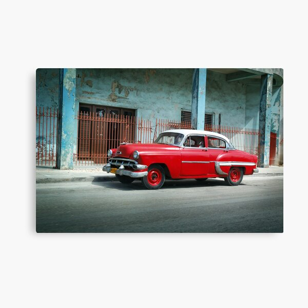 1953 Chevrolet Bel-Air Sedan 4D Red, Cuba Canvas Print