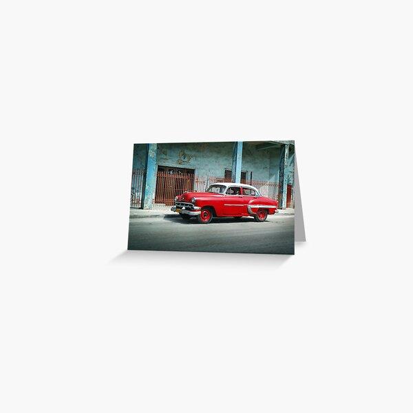 1953 Chevrolet Bel-Air Sedan 4D Red, Cuba Greeting Card