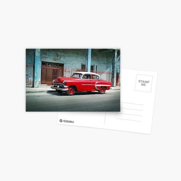 1953 Chevrolet Bel-Air Sedan 4D Red, Cuba Postcard