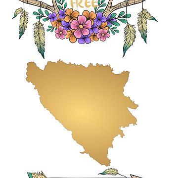 Bosnia Herzegovina Map Boho by tanabe