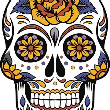 Flower Sugar Skull by grace-designs