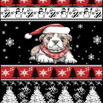 Sweet christmas dog by NovaPaint