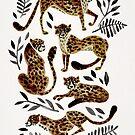 Gepard-Sammlung - Mokka- u. Schwarz-Palette von Cat Coquillette