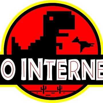 T - Rex - no internet by nerdwaren