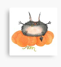 Watercolor Halloween Little Devil #9 Canvas Print