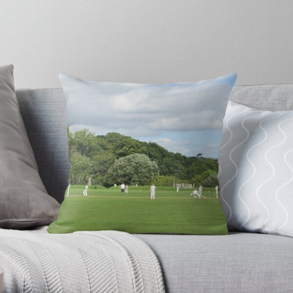 A Great British Tradition (Cricket) Throw Pillow