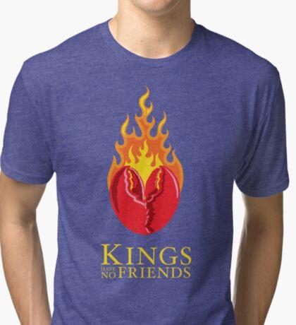 Fiery Lobster Claw Heart Sigil Tri-blend T-Shirt
