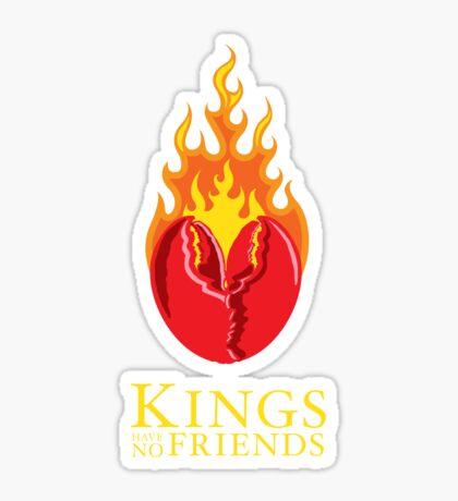 Fiery Lobster Claw Heart Sigil Sticker