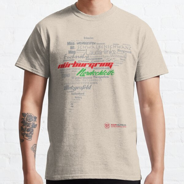 Nürburgring word map Classic T-Shirt