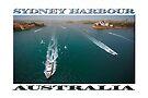 Hazy Sydney (poster on white) by Ray Warren