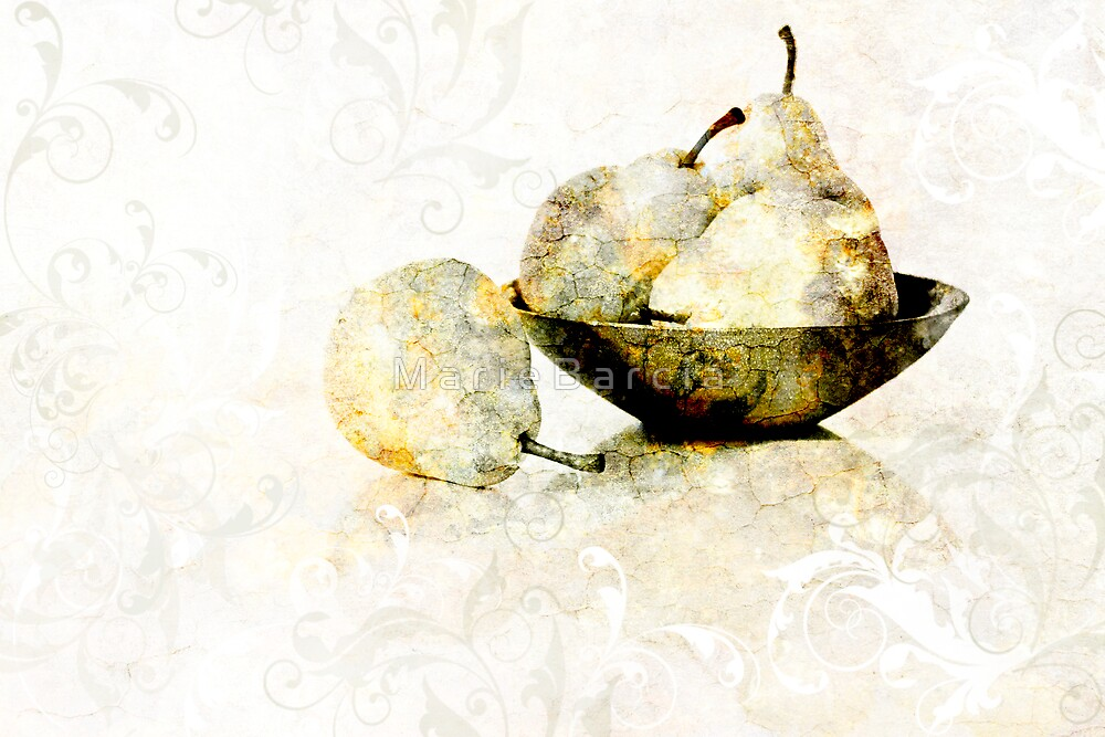 Bowl of Pears by M a r i e B a r c i a