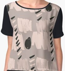 Blush Brush Stroke Pattern Chiffon Top