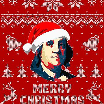 Benjamin Franklin Merry Christmas by idaspark