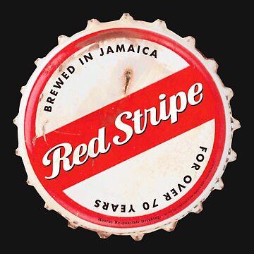 Red Stripe Bottle Cap by iermane
