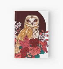 Owl Floral Eclipse Hardcover Journal