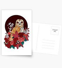 Owl Floral Eclipse Postcards