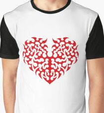 Stylized Heart Like Tattoo Graphic T-Shirt