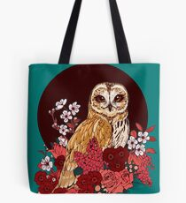 Owl Floral Eclipse Tote Bag