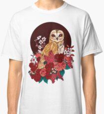 Owl Floral Eclipse Classic T-Shirt