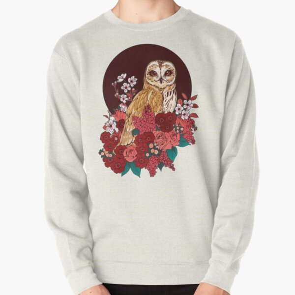 Owl Floral Eclipse Pullover Sweatshirt