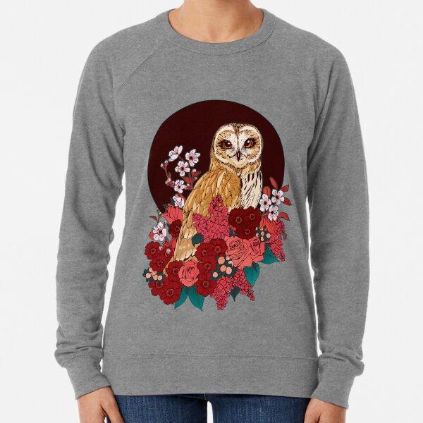 Owl Floral Eclipse Lightweight Sweatshirt