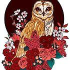 «Owl Floral Eclipse» de Kellie Lamphere