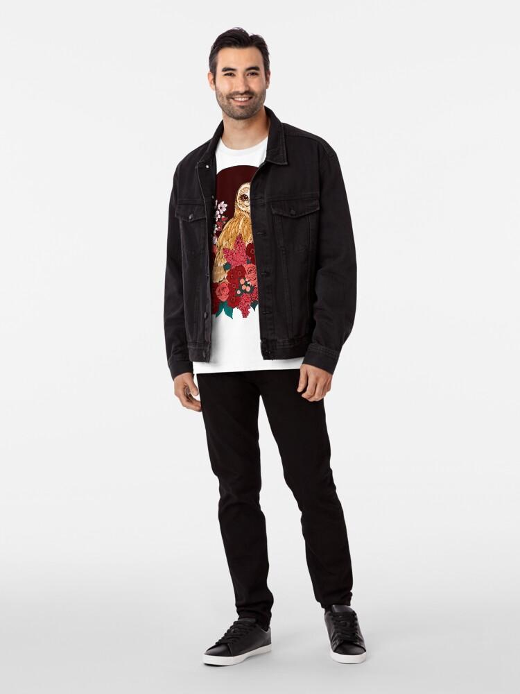Alternate view of Owl Floral Eclipse Premium T-Shirt