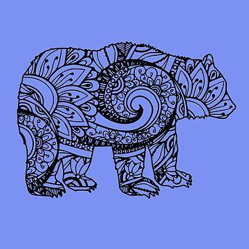 Bear Mandala by UllUDesign