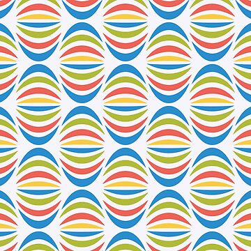 Colorful Retro Pattern by stylebytara
