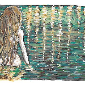 Göttin Bad, ins Wasser von Aryahvayu