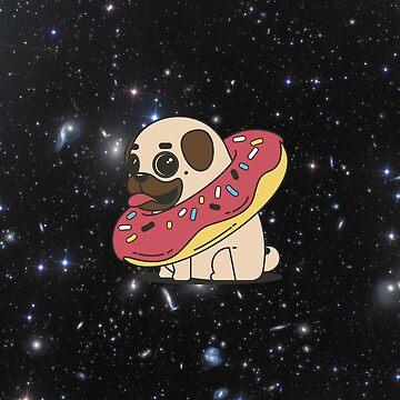 Space Donut Pug by JStuartArt
