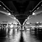 UNDER THE BRIDGE IN B/W by Scott  d'Almeida