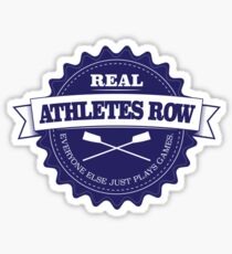 Real Athletes Row Sticker