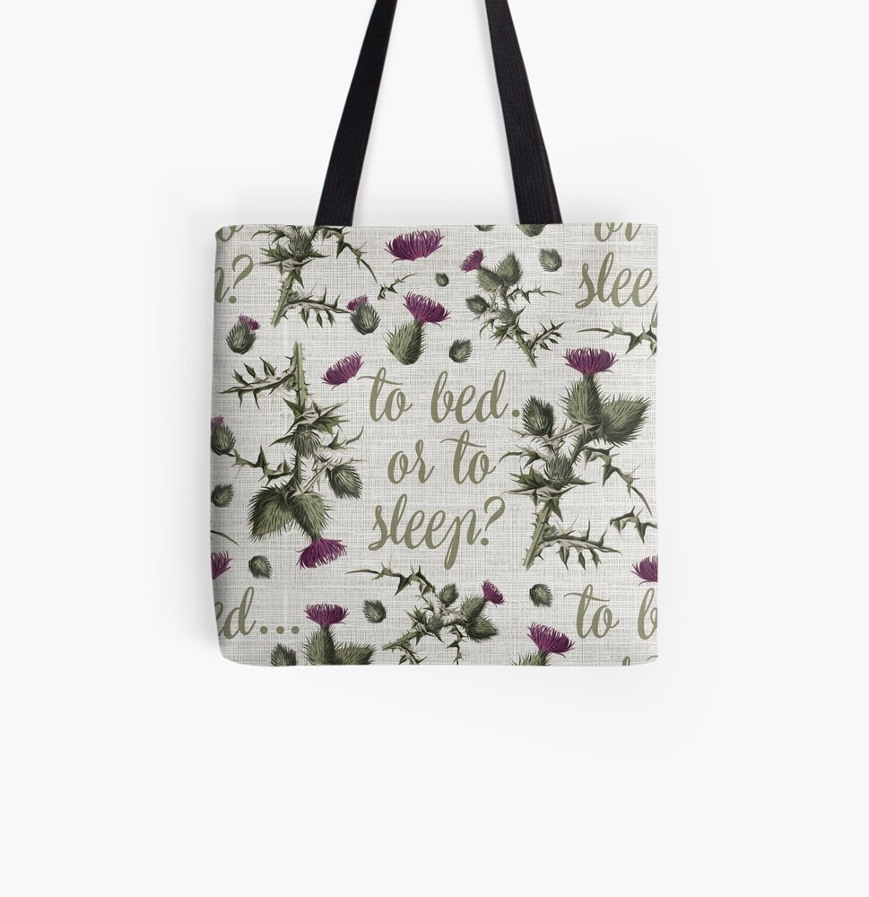 outlander thistle to bed or to sleep All Over Print Tote Bag