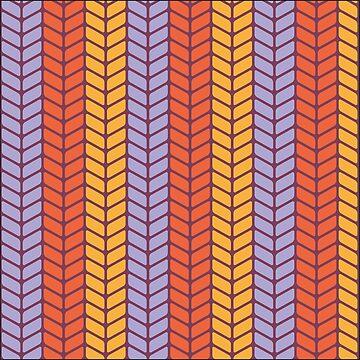 Colorful Retro Pattern by stylebytara