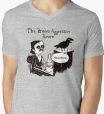 PASSIVER AGGRESSIVER RABE T-Shirt mit V-Ausschnitt für Männer