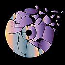 Purple cd broken art by recostume