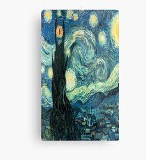 Starry Night Tardis Metal Print