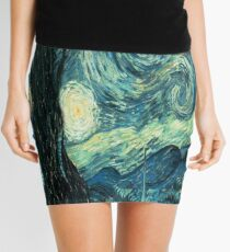 Starry Night Tardis Mini Skirt