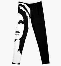 Black Ink Portrait #2 (Darkwave) Leggings